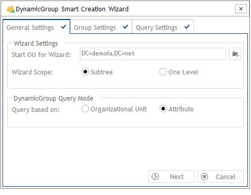 Smart Creation Wizard