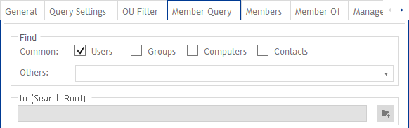 Member Query dynamische Gruppen - Einschränkungen vornehmen
