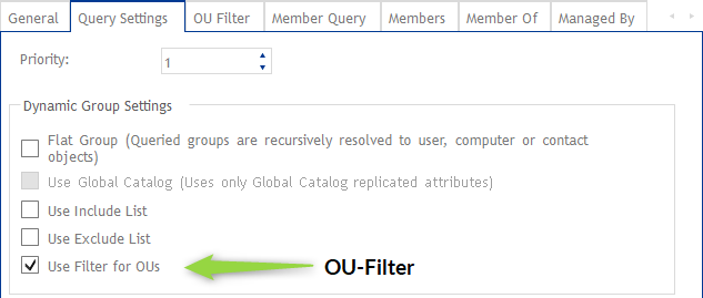 Use Filter for OUs im DynamicGroup