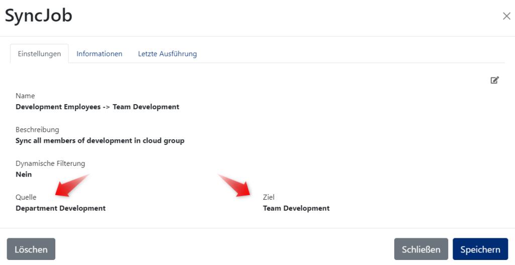 Dynamische Gruppen in Azure AD synchronisieren - Quell-und Zielgruppen